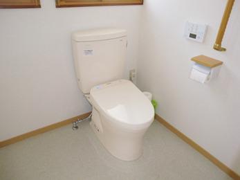 2つあったトイレ空間をまとめていただきました。バリアフリーなのでストレスもなく快適です。