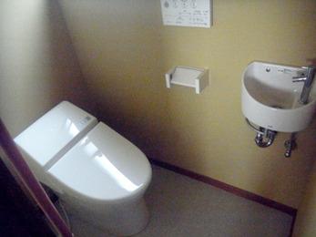手洗器を設置がトイレ空間の有効活用にもなってとても満足しています。