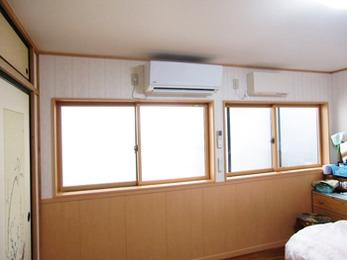 部屋の明るさと暖かさどちらも満足のお部屋になりました。