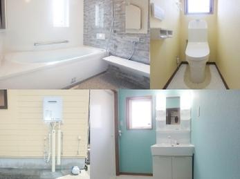 洗面台と洗濯機の配置を変え、とても使いやすくなりました。お風呂もトイレも綺麗に仕上がり大変満足しています。