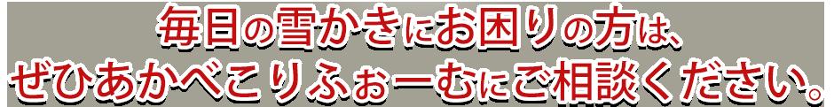 東協設備 除雪システムを会津若松で設置するなら東協設備あかべこりふぉーむへ! 会津若松 東協設備 除雪 あかべこりふぉーむ 会津若松にお住まいで毎年の除雪作業にお困りの方は東京設備あかべこりふぉーむにお任せ下さい。 会津若松 あかべこりふぉーむ 除雪 東協設備
